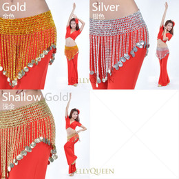 Belly Dance Elasticity Beads Hip Scarf Belt 2 Colors In