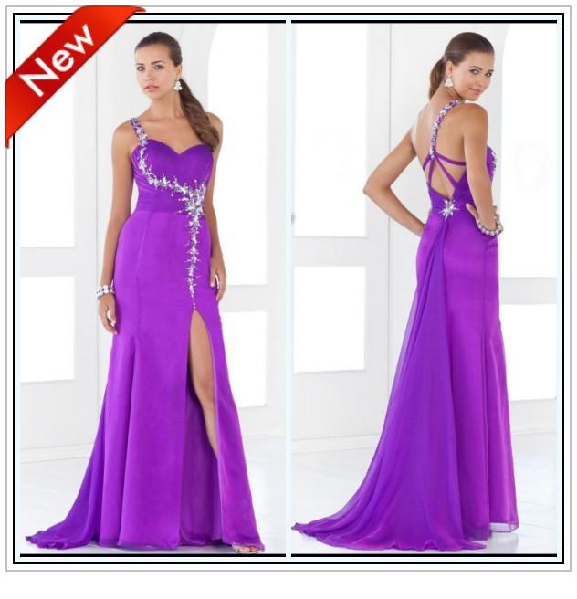 Wholesale! Prom Dress Pregnant Women Dresses One Shoulder Split ...