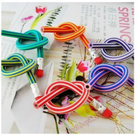 Wholesale Novelty children kid gift toy Flexible Pencils soft pencil cm stationery pencils easily bend