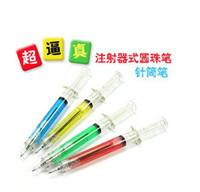 Wholesale New crazy hot sell nurse shall syringe needle pen tubind pen Gift Toy