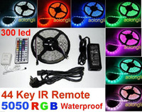 Wholesale 5050 SMD Flexible RGB LED Light Strip Waterproof led Keys IR Remote Controller Power Supply