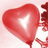 100 Pcs Red Heart Shape Latex Balloon + 100 Pcs Stick & Cup + Inflator Pump Party Decoration