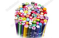Wholesale Nail Art Stickers Canes Stickers Rod Fimo Decoration Fruit And Flower Cutted HK Post