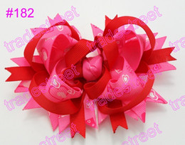 free shipping 72pcs boutique girl hair bows feather bows funky baby hair bows Valentine's Day bows