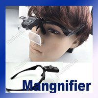 Wholesale 1x x x x x Eyeglasses Magnifier LED Magnifying Plastic bracket Resin lens