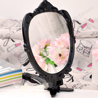 Wholesale 10pcs makeup mirror folding make up mirror Vintage Butterfly Hand held folder Makeup Mirror OS80