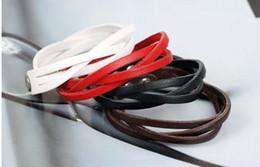 Wholesale -Unisex Bracelets 50pcs lot leather string Cuff bracelet charm bracelet jewelry wrap bracelet For Women