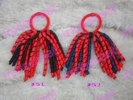 Wholesale mix color korker ponytail holders pony holder streamers ponytail holder bows