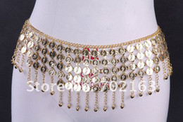 Bell Belly Dance Metal Hip Scarf Belly Dance Coins Belt With Jingle