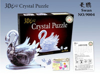 Wholesale 2016 new D Puzzle Crystal Swan Jigsaw Puzzle building block juggle children kid gift toy
