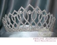 Wholesale Bridal Rhinestone Tiara Crown Birthday Party Crystal Crown Tiara Rhinestone Wedding Bridal Tiara Pageant Tiara