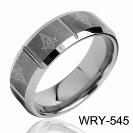6mm &8mm Masonic Laser tungsten Ring weddding ring Fashion Jewelry Comfort Style Rings Fit