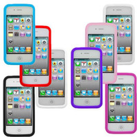 Wholesale TPU Bumper Frame With Metal Button Case Cover for iphone S with retail package