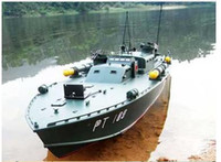 Wholesale RC Boat R C boat high quality freeshipping cc gas boat PT109 Patrol Torpedo Boat RTR Pistol Tra