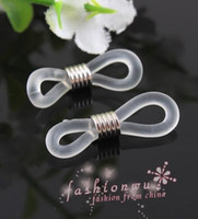 Silver chain hooks - DIY mm White Tone Ends for Eyeglasses Chain Holder Connector Clasp Bead Jewelry Findings