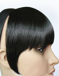 Wholesale clip on long face MM clip on bangs fringe Wigs Extension EMP035