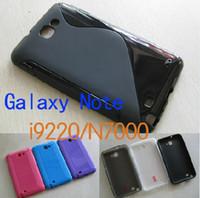 Plastic n7000 tpu - S Line TPU Gel Skin case for galaxy Note I9220 N7000