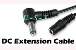 Wholesale DC Power Extension Cable Angled mm x mm DC Barrel Plug M length CCTV
