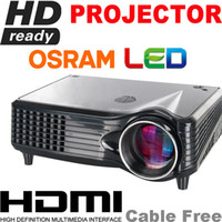 Wholesale Free Shipment HDMI Cable P P Supported LCD Display Osram Led Lamp D Projector HD Ready
