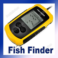 Wholesale 10PCS Sonar Sensor Fish Finder Alarm Transducer LCD display with LED back lighting