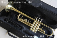 Wholesale New arrival gold Trumpets with case A hot sale