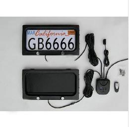 titular da licença EUA metal carro de controle remoto carro licença placa armação de cobertura de privacidade licença carro americano S925