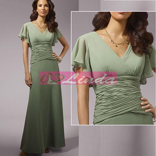 2015 Olive Sage Green Chiffon Mother Of The Bride Dress Ankle ...