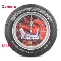 Wholesale Wheel Tire Hidden Wall Mini GB Alarm Clock Camera