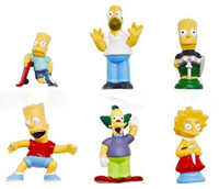 Wholesale 6 style The simpsons action figure decoration action figure kid s toy