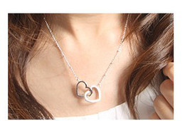Wholesale jewelry sets beautiful heart to heart pendant necklaces dangle piercing earring sets