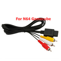 Wholesale 6FT AV TV Video Cord Cable For Nintendo N64 Game Cube New Black Ship From USA VF401