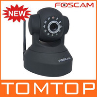Wholesale HK post FOSCAM Wireless IP Camera IR Cam Pan Tilt Dual Webcam FI8918W