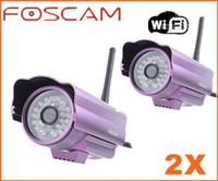 Wholesale FOSCAM Wireless WiFi Network IR Waterproof Security CCTV IP Camera Free