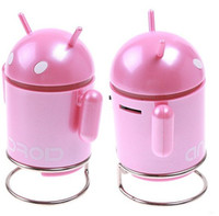 Active Mini Plastic Price Discount USB Android Robot Speakers Latop Tablet PC MID computer Speakers FREESHIPPING