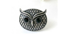 Bohemian Women's Anniversary wholesale-Fashion Jewelry rings Owl Rings Ethnic Rings Personality Ring black stone rings JD05