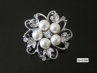 Wholesale Woman Brooch Imitation pearls Diamond Alloy Fashion Eight love BH2008
