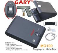 Wholesale MO100 Portable Optical Fingerprint Biometric Car Gun Safe Box Vault with one year warranty