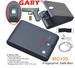 Wholesale MO100 Portable Optical Fingerprint Biometric Car Gun Safe Box Vault with one year warranty