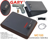 Wholesale MC100 Portable Digit Combination Lock Mini Car Gun Safe Box Vault with one year warranty