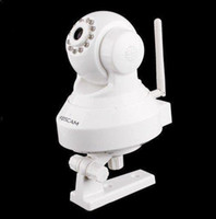 Wholesale UK Shipping White FOSCAM FI8918W CCTV WiFi Dual Webcam Pan Tilt IR Wireless IP Camera