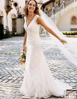 Wholesale 2014 Hot Selling wedding dress gown Bride dress V Neck Wedding Dresses wedding gown lace Embroidery Valentine s day customize size
