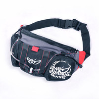 Wholesale Brand New Big Eyes Rider Race Motorcycle Black Zip Waist Pocket Purse P215