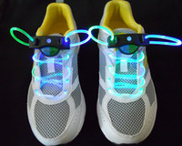 Wholesale MOQ pairs Flash Platube laces Magical LED flashing shoelace for Christmas Festival Party colours mixing