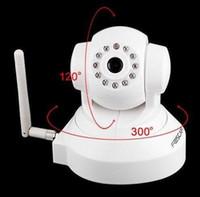 Wholesale White FOSCAM FI8918W CCTV WiFi Dual Webcam Pan Tilt IR Wireless IP Camera Dropshipping