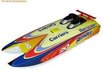 Wholesale RC Boat R C boat Racing boat Freeshpping High quality FRP catamara cc gas boat Hurricane G