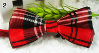 Wholesale men s bowtie fashion chic striped banded bow ties silk bowtie mens neckwear
