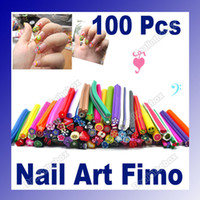 Wholesale Nail Art Stickers Canes Stickers Rod Fimo Decorate Fruit And Flower Cutted HK Post