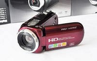 Wholesale EMS C4 Mini DV Digital Camcorder HD Camera quot LCD X Zoom Black Red Color High Quality
