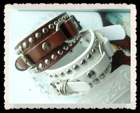 Wholesale 20pcs Fashion bracelets for PU leather amp rivets three color Cheap Jewelry Fahsion Jewelry