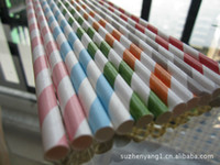 Wholesale mix color drinking straw strip SipSticks Paper Drinking Party Straws BIODEGRADA